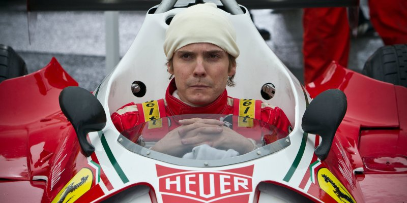 Rush 2013 Daniel Brüh with F1 Car