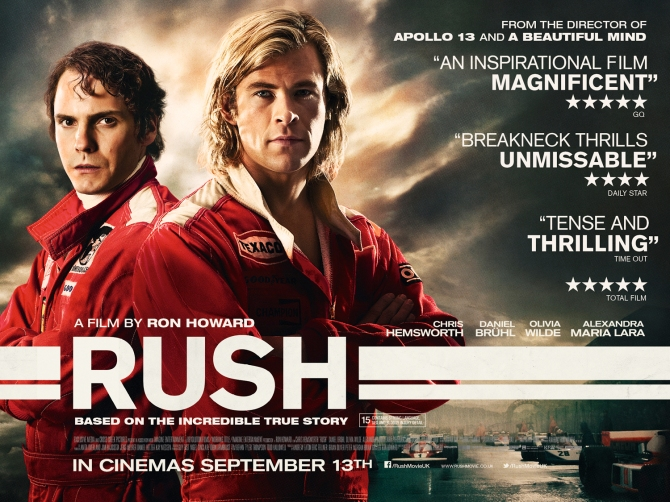 Rush Official 2013 poster
