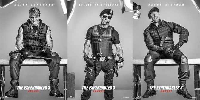 Expendables 3 character posters
