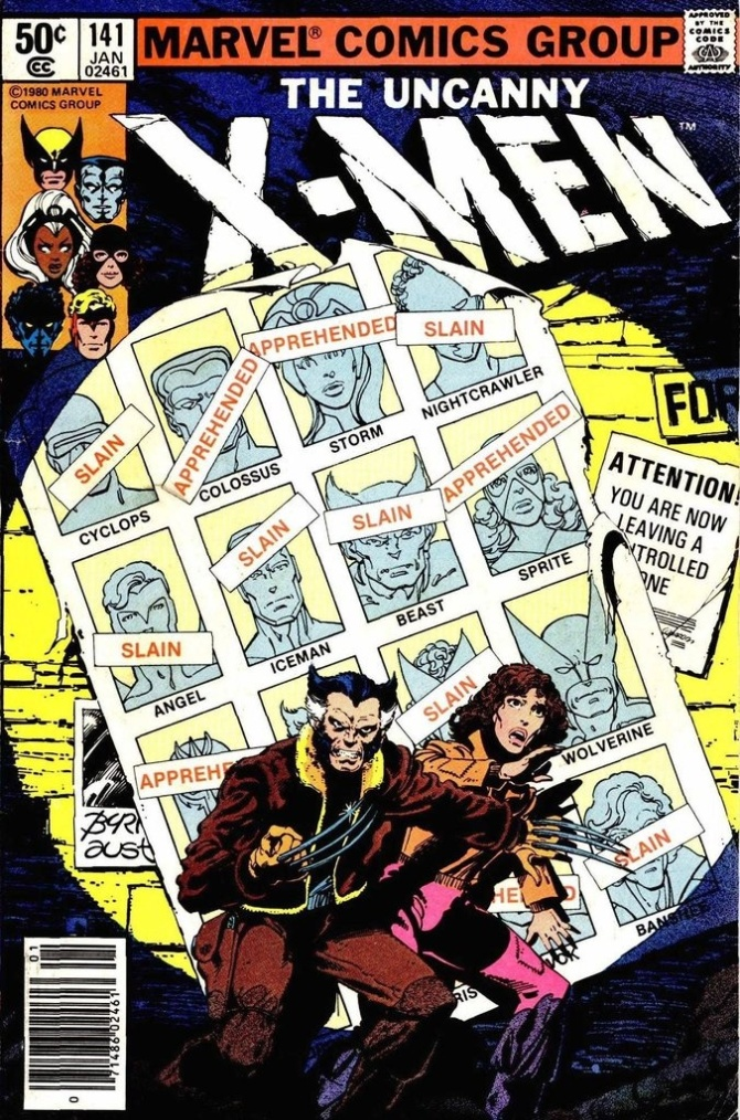 X-men Days of Future Past Comic