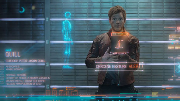 Guardians of the Galaxy Star Lord Flipping the Bird Obscene Gesture Alert