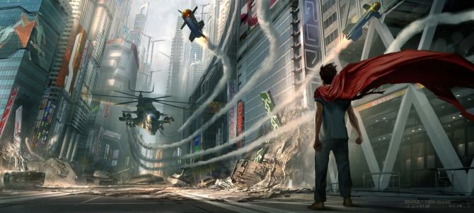 Akira movie live action concept art showdown