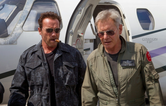 Expendables 3 Ford and Schwarzenegger