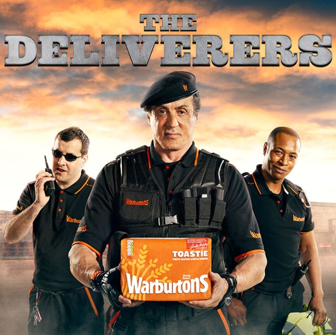 Sylvester Stallone Warburtons The Deliverers
