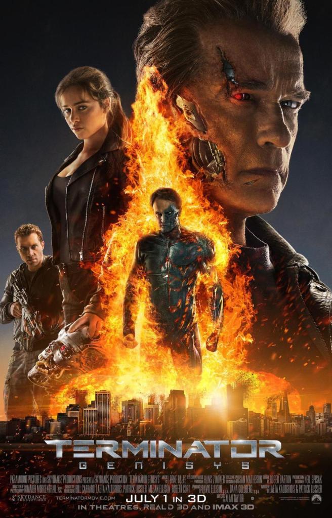 Terminator Genysis poster Emilia Clarke Arnold Schwarzenegger