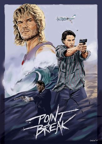 Point Break painted poster
