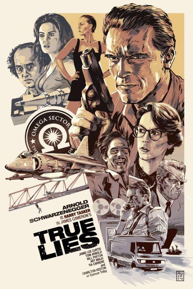 True Lies Arnold Schwarzenegger poster