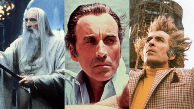 Christopher Lee Wicker man LOTR James Bond