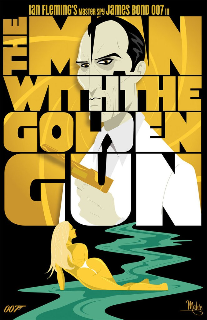 The Man With the Golden Gun James Bond Christopher Lee Roger Moore Mike Mahle