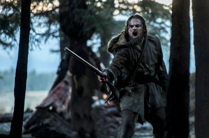 Leonardo dicaprio revenant 2016 gun