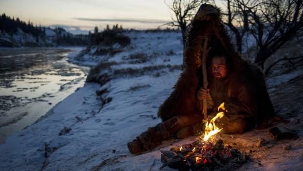 the revenant leonardo dicaprio campfire