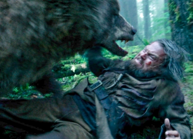 the revenant bear attack leonardo dicaprio 2015
