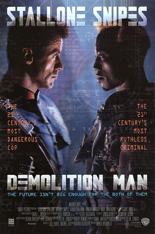 Demolition Man 1993 Movie Poster
