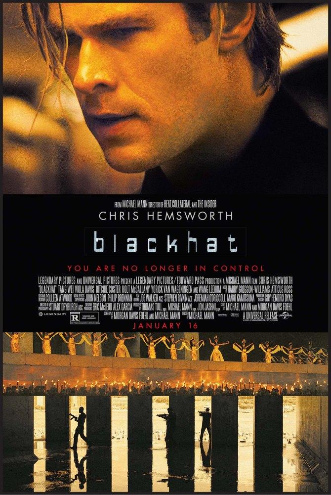 Blackhat 2015 movie poster high res chris hemsworth michael mann