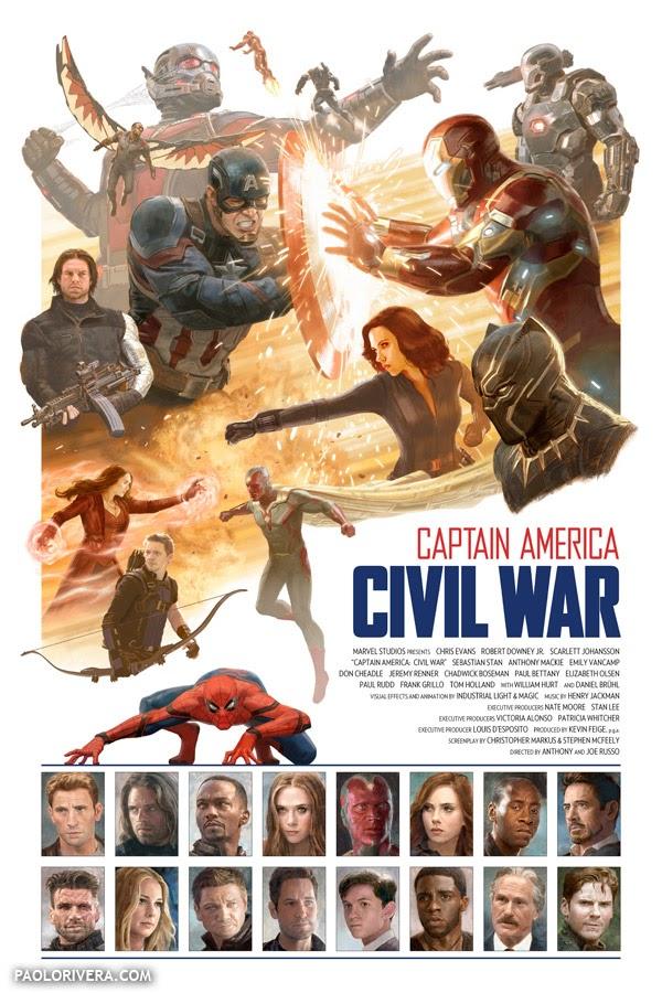 Captain America Civil War alternative movie poster
