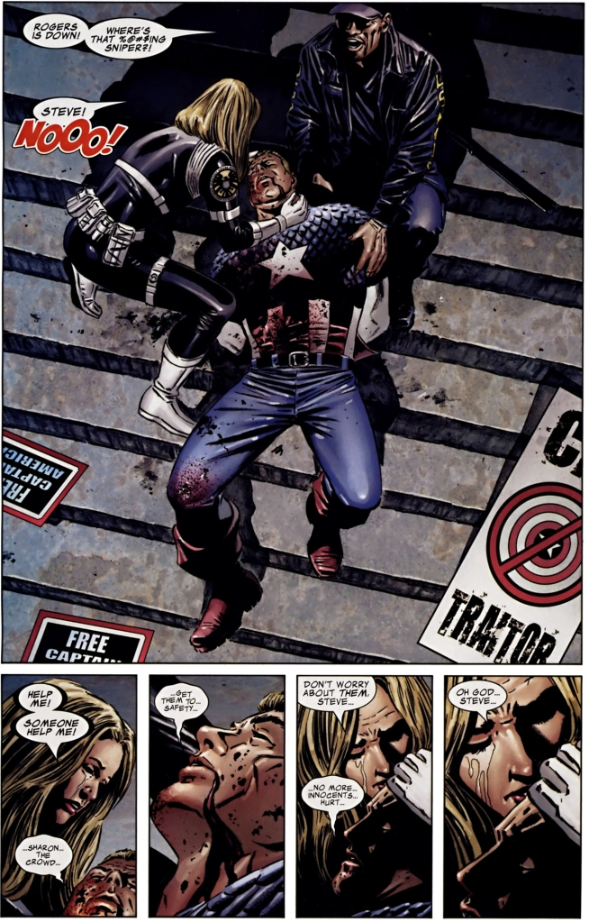 Death of Captain America comic strip