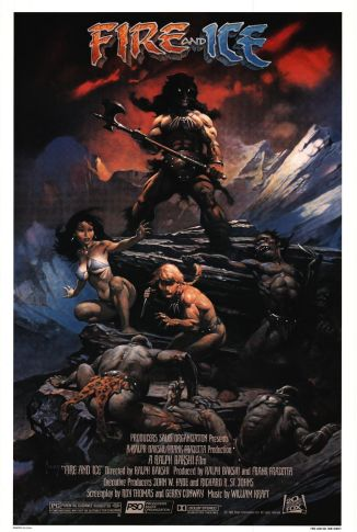 Fire and Ice movie poster Frank Frazetta