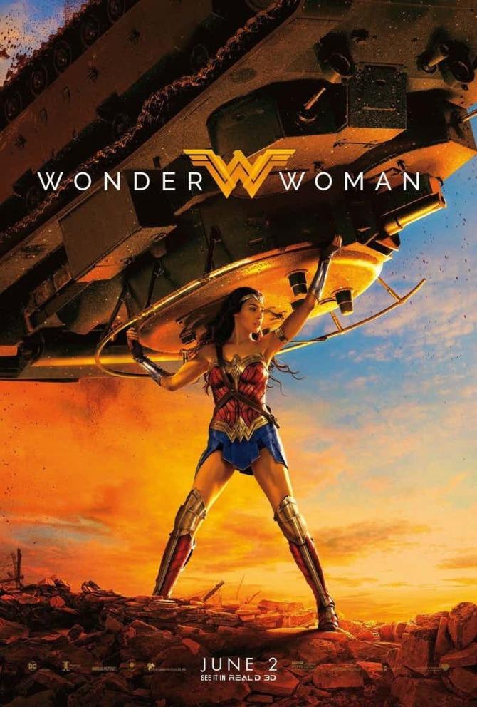 Wonder Woman gal gadot tank poster