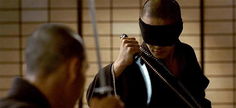 blindfolded ninja assassin