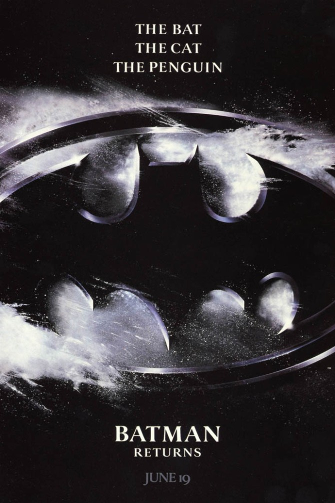 batman returns simple poster
