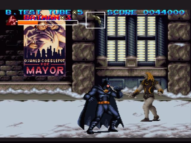 batman returns swordsmen SNES