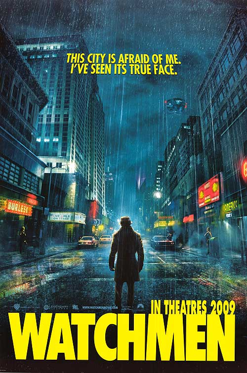 Watchmen movie poster 2009 rorschach