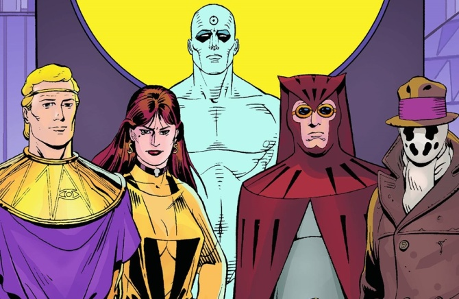 watchmen comic group shot