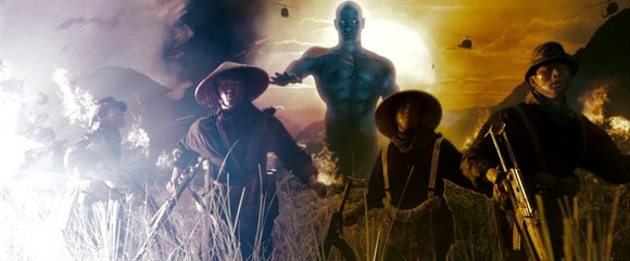 watchmen movie dr manhattan vietnam